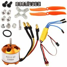 RC 2200KV Brushless Motor 2212-6 + Free Mount for rc plane helicopter + 30A ESC