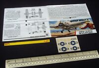 Mid 1960s Vintage Airfix Header & Decal (No Kit) RN FAA Grumman Wildcat (L20)