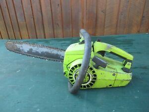 "Vintage POULAN SUPER XXV COUNTER VIBE Chainsaw Chain Saw with 13"" Bar"