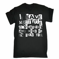 Multiple Personalities None Like You T-SHIRT Rude Emo Top Funny Gift Birthday