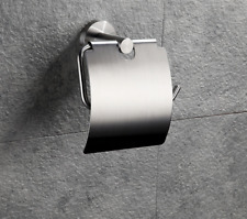 Brushed Nickel Stainless Steel 304 bathroom Toilet tissue Paper holder w/ cover