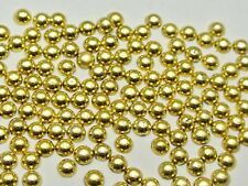 10000 Metallic Gold Flatback Round Tiny Half Pearl 2mm Scrapbook Nail Art