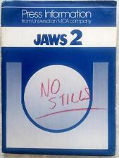 UNIVERSAL PICTURES JAWS 2 ORIGINAL VINTAGE SHARK PRESSKIT
