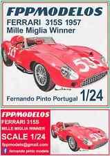 FERRARI 315S 1957 Mille Miglia winner Taruffi  or Le Mans 1957 1/24  FPPM KIT