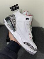 2011 Nike Air Jordan III Retro 3 White Cement Size 9   Black Tinker Top UNC JTH