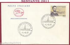 ITALIA FDC CAVALLINO S. ALFONSO MARIA DE LIGUORI 1987 ANNULLO TORINO Y175