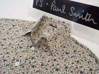 "PAUL SMITH Mens MAINLINE Shirt 🌍 Size M (CHEST 42"") 🌎RRP £195+📮 FLORAL STYLE"