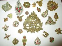 VERY RARE LOT Antique Vintage Sari APPLIQUE APPLIQUES 25 Pcs DOLL ZARDOSI ZARI