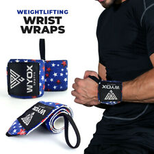 Weight Lifting Wraps Gym Fitness Training WYOX Wrist Support Workout Blue Star