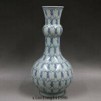 China old antique Qing Dynasty Kangxi sign Blue and white Longevity pattern vase