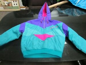 Arctic Cat Arctic Wear Vintage Pull-over coat Large Teal Purple Pink