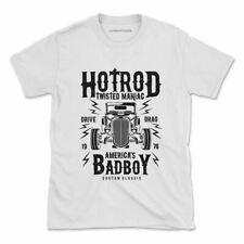 Hotrod Twisted Maniac Tshirt Vintage Truck Power Classic Womens Mens
