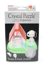 DIY 3D Crystal Puzzle Jigsaw 50 pieces Kid Toy Model Decoration- Snoopy w/ House