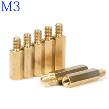 M3 Male-Female Brass Hex Column Standoff Support Spacer Screw Nut for PCB Board
