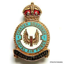 RAF 1 Fighter Squadron - 1940s WW2 MILLER Brooch Badge - Royal Air Force