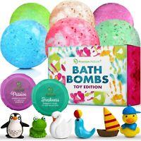 Bath Bombs Kids Gift Set Of 6 Bubble Bath Natural Aromatherapy Surprise Inside