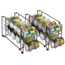 2 Pack Soda Can Beverage Dispenser Rack - Holds 12 bottles Soda Cans Holder