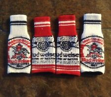 New listing 4 Budweiser Coozie Koozie bottle sweater