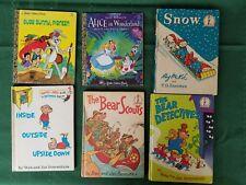 6 Vintage Little Golden Books Berenstain Bears Alice in Wonderland Bugs Bunny