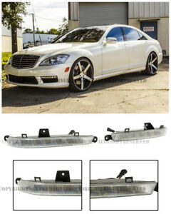 Daytime Running Lights DRL Clear Driving Fog Lamps For 11-13 MB W211 S63 S65 AMG