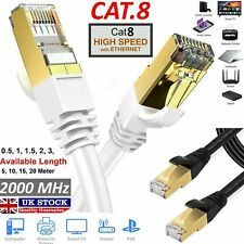 RJ45 Cat8 Network Ethernet Cable Gold Ultra-thin 40Gbps SSTP LAN Lead LOT