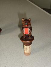 ancien bouchon ours en bois sculpté foret noire BLACK FOREST BEAR accordeon