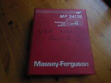 MASSEY FERGUSON M-F 34/38 (COMBINE) WORKSHOP DATA MANUAL - EXCELLENT CONDITION