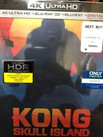 Kong Skull Island Steelbook (4k Ultra HD/3D/Blu-Ray/Digital HD) *NEW* Exclusive
