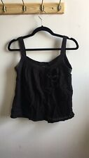 APC Black Crop Top Size Small