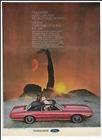 FORD THUNDERBIRD Vintage 1968 Print Ad ~ Sun, Moon, & Stars Roof ~ Landau