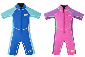 Infant / Girls / Boys / Toddler Osprey Shorty UPF 50 Wetsuit with Zip Front