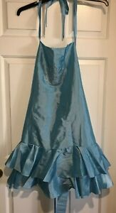 Luxe To Love Apron Haute In The Kitchen Blue Bling Crown fancy costume Halloween