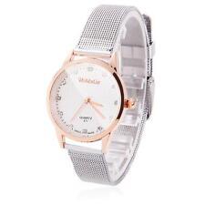 Women Crystal Wrist Watch Stainless Steel Alloy Case Small Round Quartz Bracelet