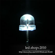 100pcs/pag 5mm Straw hat white LED Wide Angle Light lamp