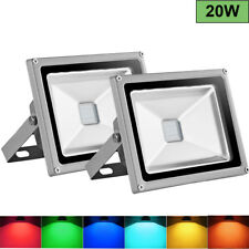 20w LED Floodlight RGB 16 Colors Changing Outdoor Garden Spotlight Remote 220v