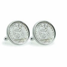 NEW Seated Liberty Silver Dime Sterling Silver Coin Cuff Links 12788
