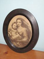 "Small Art Deco Oval Frame Wooden 11 1/2"" x 9 1/2"" (A)"