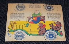 Coats and Clarks Thread Die Cut Clowns Roadster Bear Punch Out Spools Circus Toy