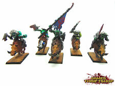 Warhammer orcos & goblins/Ork jabalí Boyz/Riders X 5