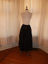 Vtg Jet Black Victorian Edwardian Inner Under Skirt Lining for Sewing Projects