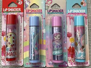 4 LIP SMACKER Lip Balm ,CandyCane ,Marshmellow Pop,unicorn Delight,Mermaid Magic