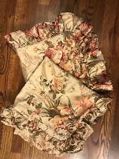 2 Vintage Ralph Lauren Guinevere Floral Ruffle Pillow Sham Cover Case 24 X 24