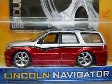 1:64 Automotive Jada Toys Dub City Lincoln Navigator Metallic Red Red High Profile