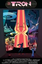 Tron Poster LE #62 Signed Art Master Control Program Flynn Legacy Disney Arcade