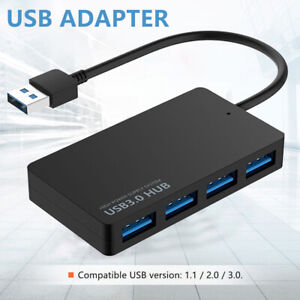 4 Port USB 3.0 HUB Verteiler Splitter Adapter Super Speed Datenhub für Laptop PC