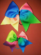 """My DOLL AND Me Matching Rainbow Ombre hair bows 18"""" doll, Birthday, Everday"""