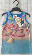 Boys Despicable Me Minion Made Minions Beach Vest Top/Summer Holiday T-Shirt 3-4