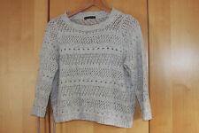 FARINA d'avena, leggero, lavorato a maglia, maglione corto-taglia 14