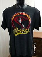 SHELBY COBRA RACING T-Shirt Black Heather Fifth Sun Licensed Distressed Sz 2XL