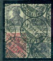 Deutsches Reich, Germania Zusammendruck Nr W 12 /W 59 gestempelt